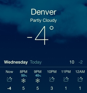 Denver freeze